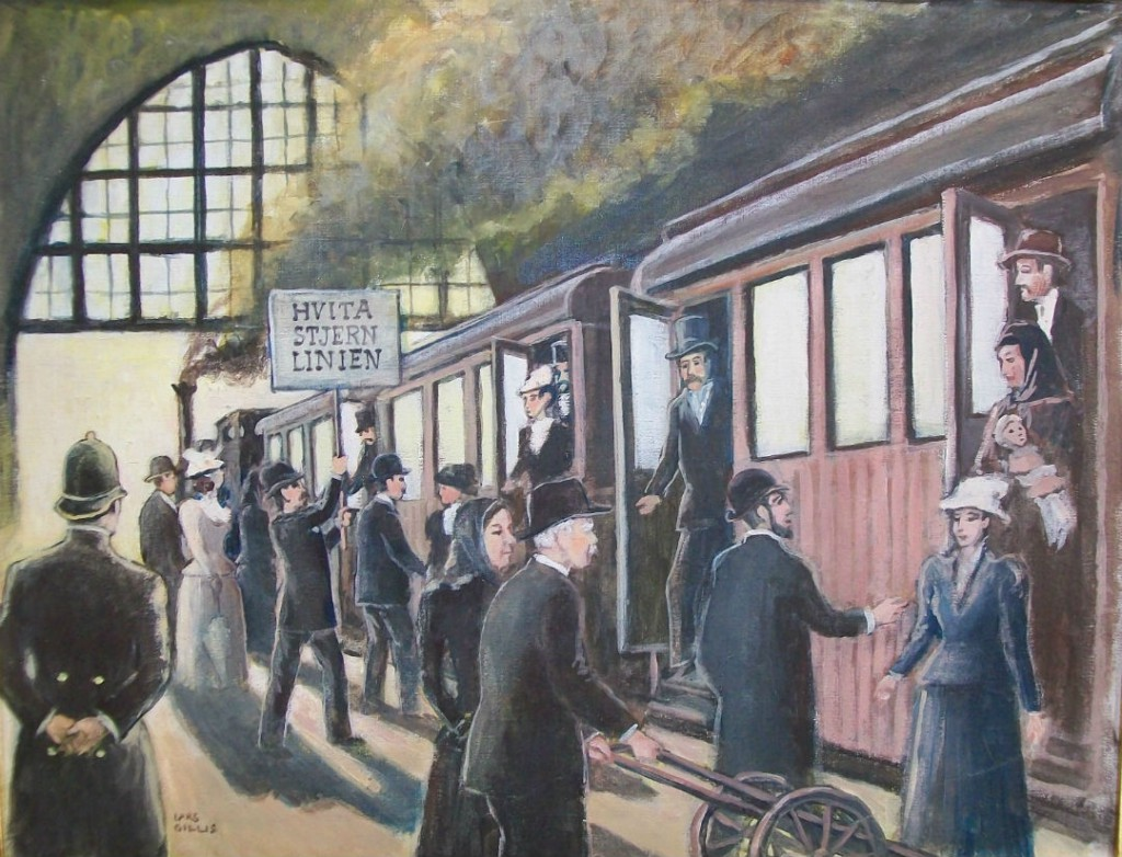 På Centralstationen möttes utvandrarna av en agent från resebyrån som sålt biljetten eller så ville agenten sälja biljetter till de utvandrare som ännu inte hade köpt en biljett.