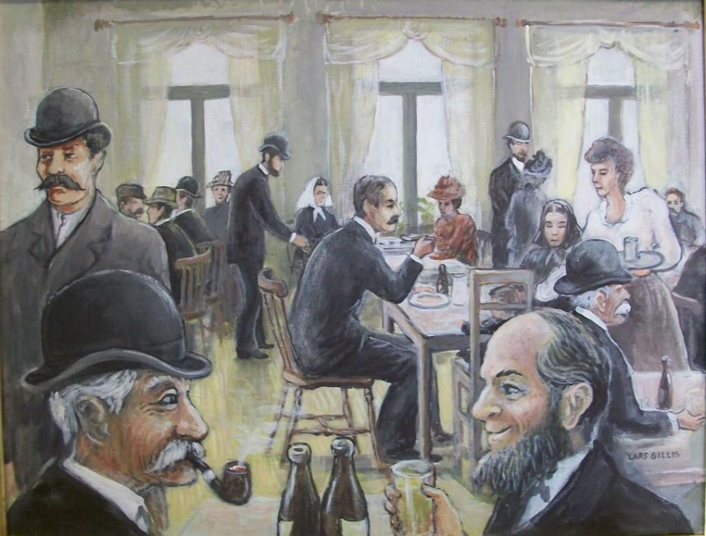 Det fanns många restauranger och serveringar på Sillgatan. Efter en lång dag med mycket att göra så kunde det vara skönt att slippa laga mat själv. Här serverades också öl, vin och sprit.