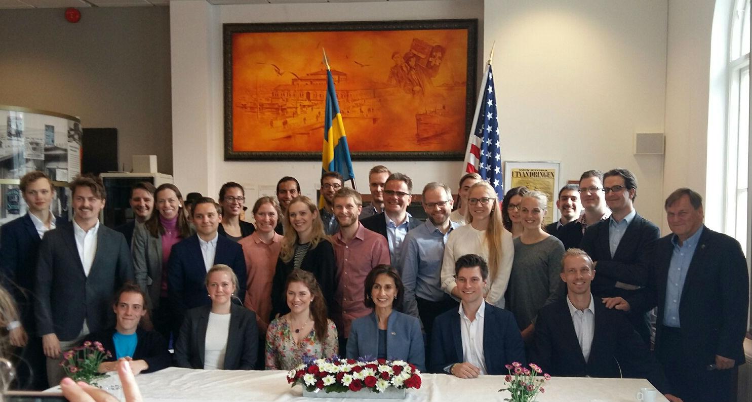 Gästande entreprenörsstudenter från Chalmers och Handelshögskolan.