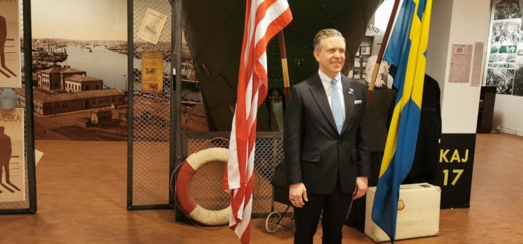 A celebrated visit by the American Ambassador Ken Howery