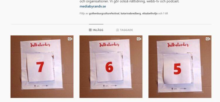 Vi har en Julkalender på Instagram i samarbete med Mediabyrån!